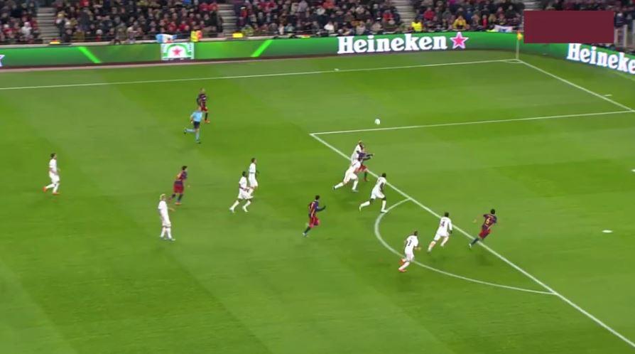 Messis Traumtor gegen die AS Roma (2:0)