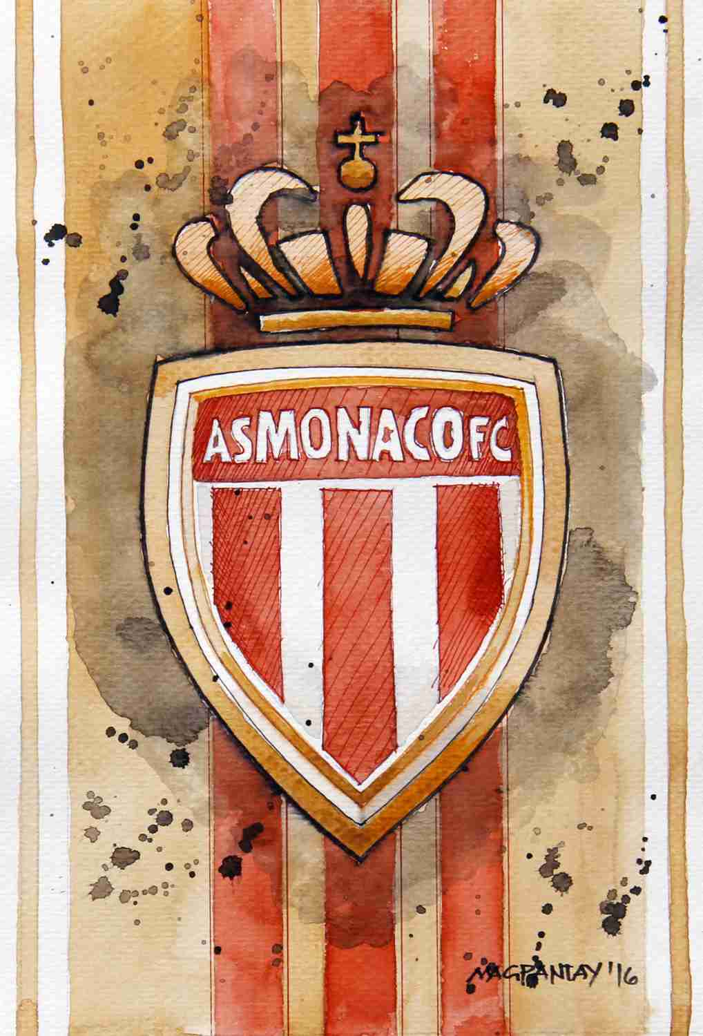 _AS Monaco - Wappen, Logo