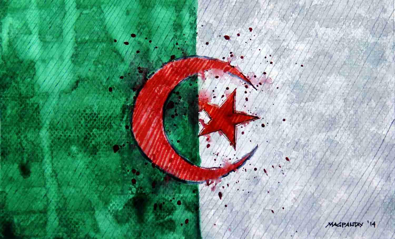 _Algerien - Flagge