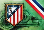 Atletico Madrid - Wappen mit Farben