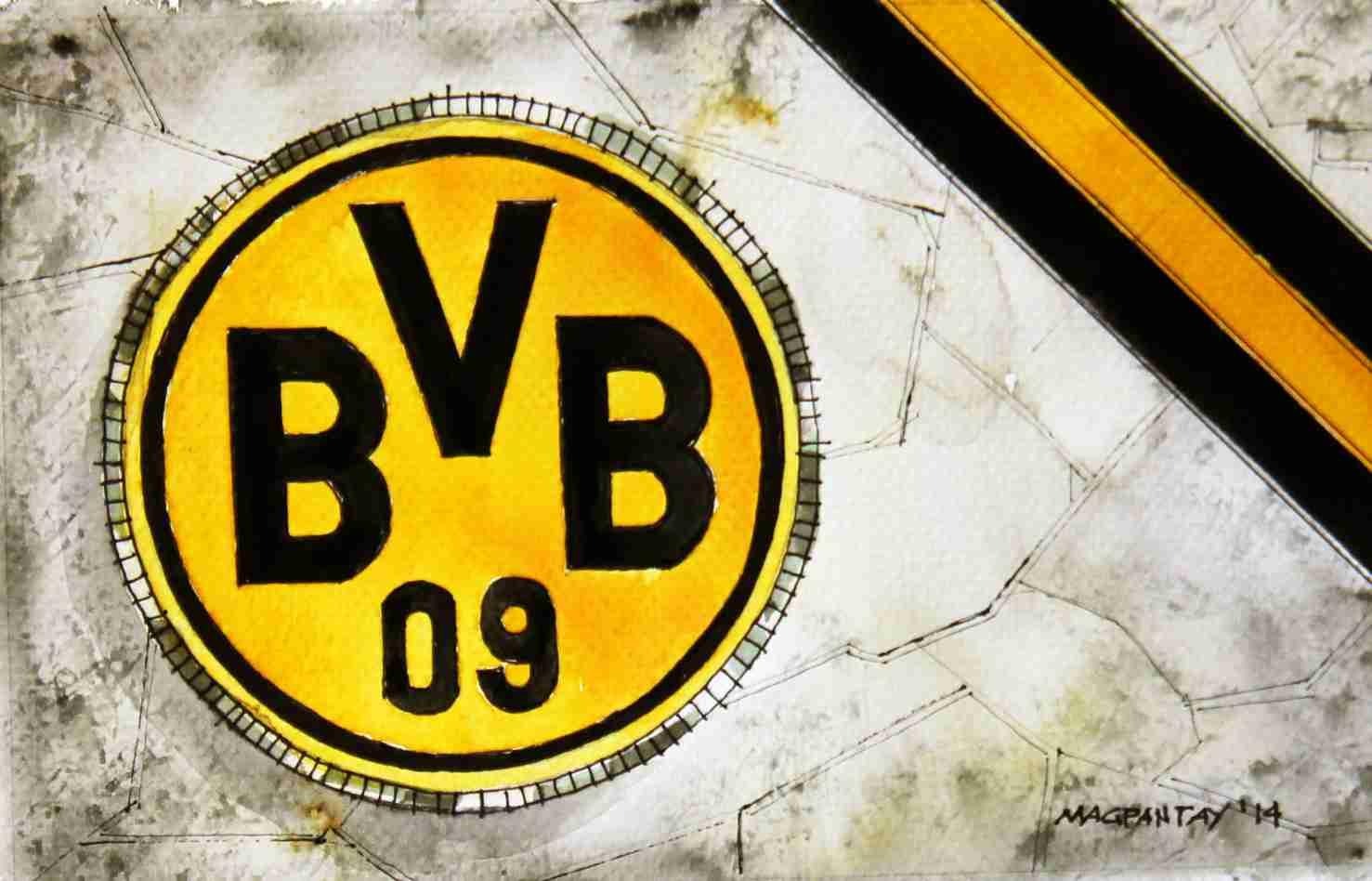 _Borussia Dortmund - Wappen mit Farben