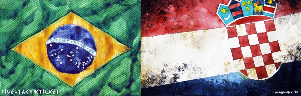 Taktikticker/Spielfilm: Brasilien – Kroatien 3:1