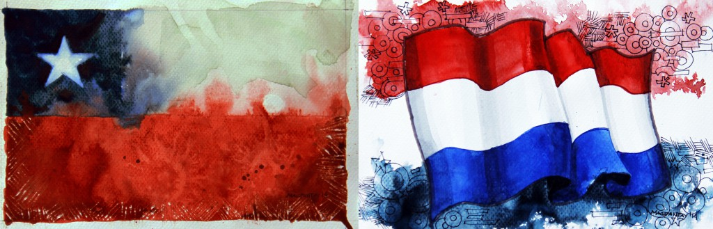 Spielfilm/Taktikticker: Chile – Niederlande 0:2