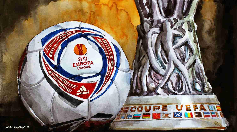 _Europa League Pokal und Ball