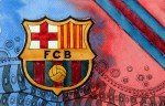 FC Barcelona - Wappen mit Farben