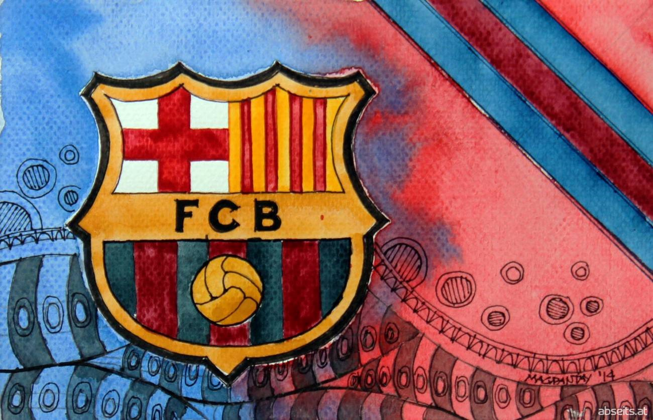 FC Barcelona - Wappen mit Farben_abseits.at