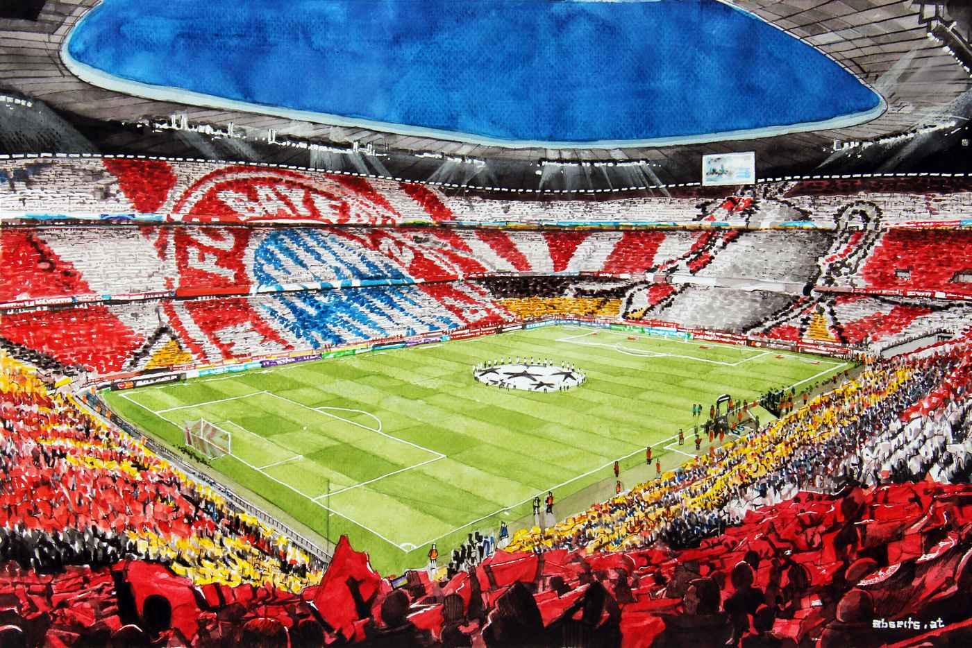 _FC Bayern Allianz Stadion Choreografie