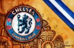 FC Chelsea - Wappen mit Farben