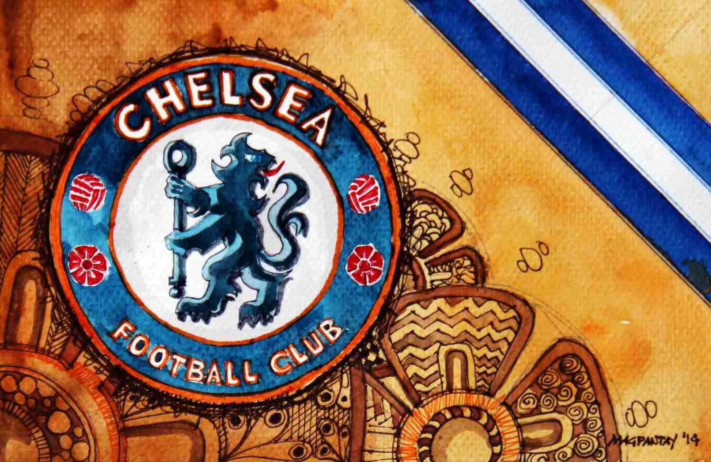 _FC Chelsea - Wappen mit Farben