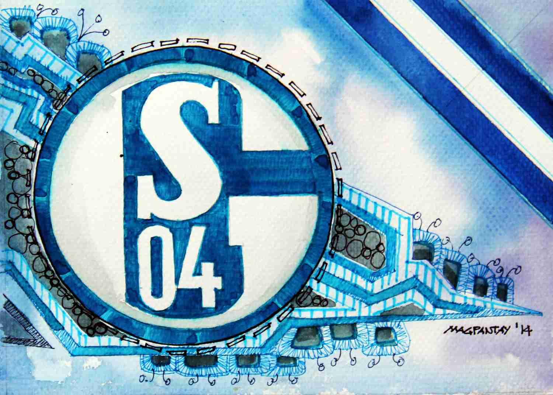 _FC Schalke 04 - Wappen mit Farben