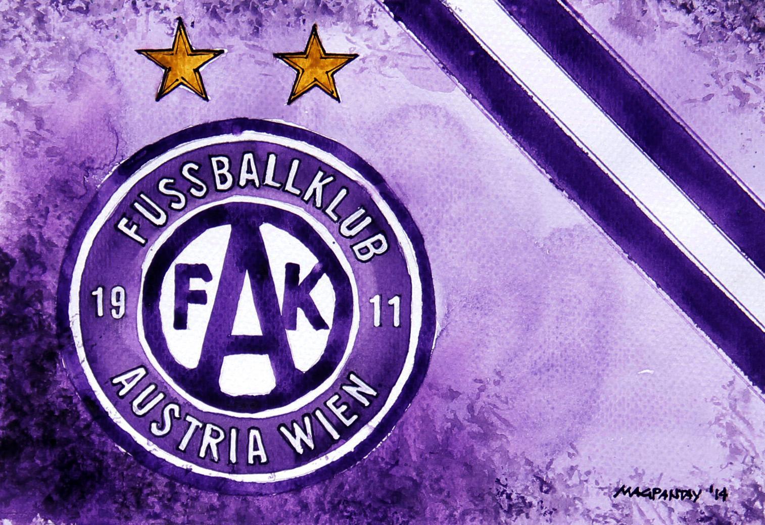 FK Austria Wien - Wappen mit Farben