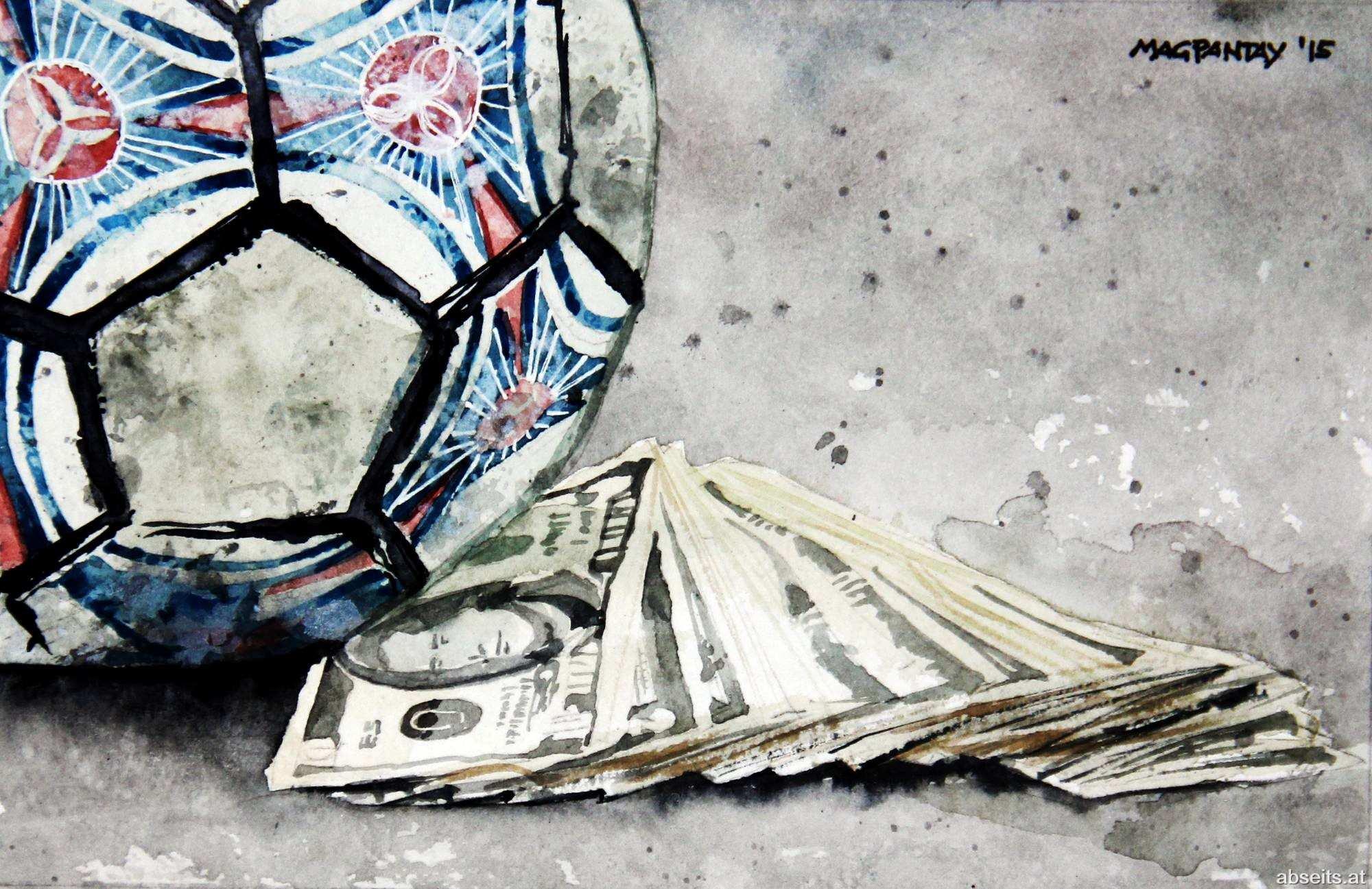 _Fußball Geld Business Dollar