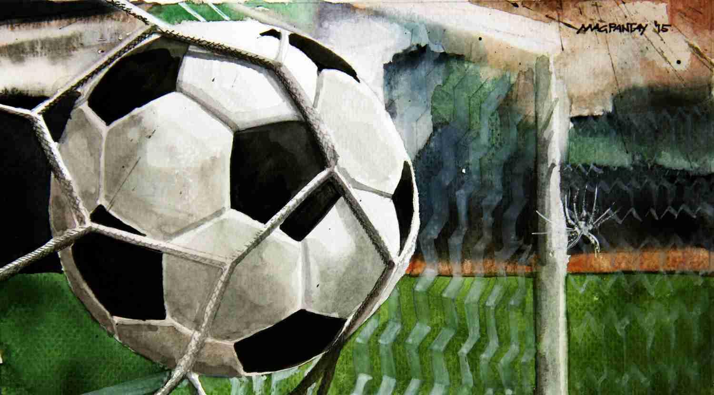 _Fußball im Tor Symbolbild News