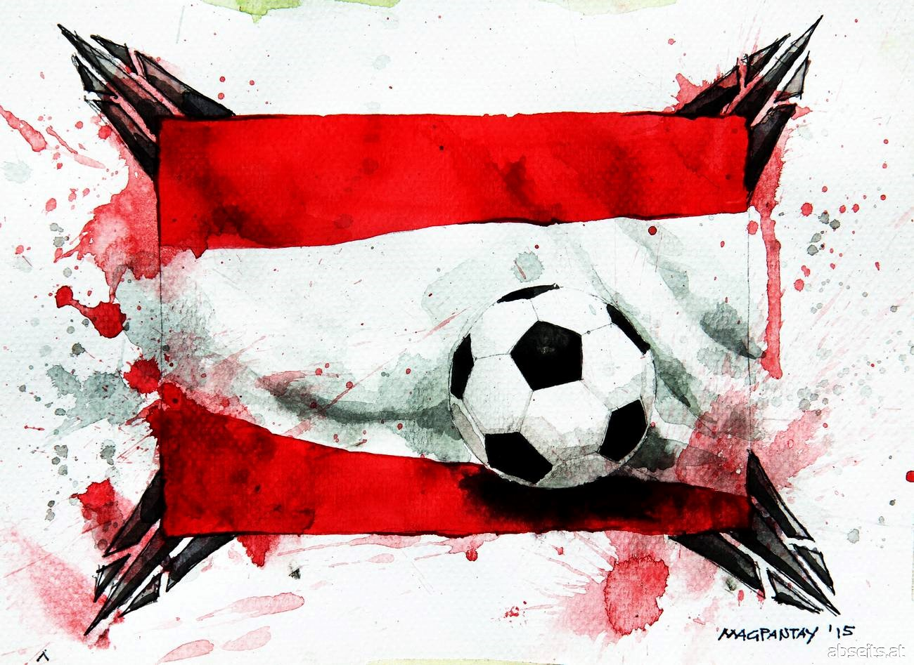 Fußball in Österreich - Flagge_abseits.at