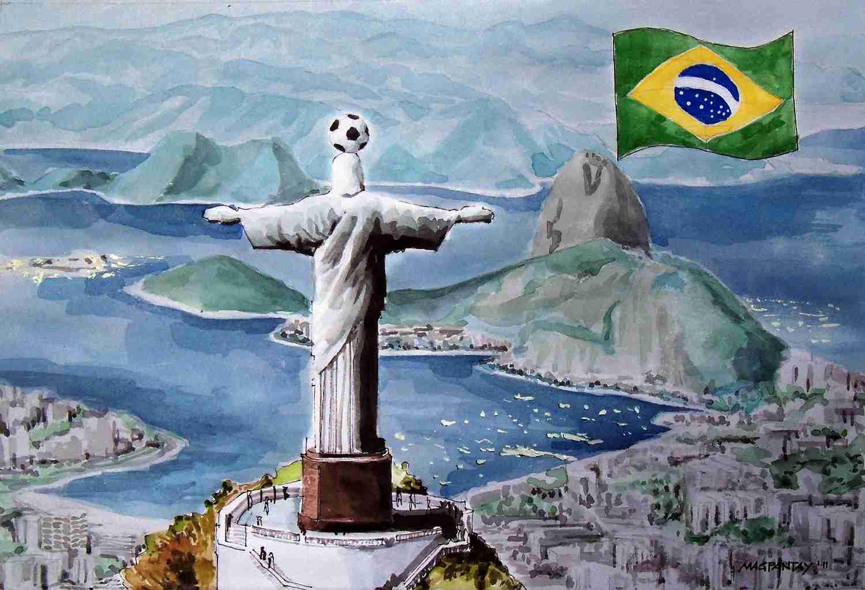 _Fußball in Brasilien Zuckerhut