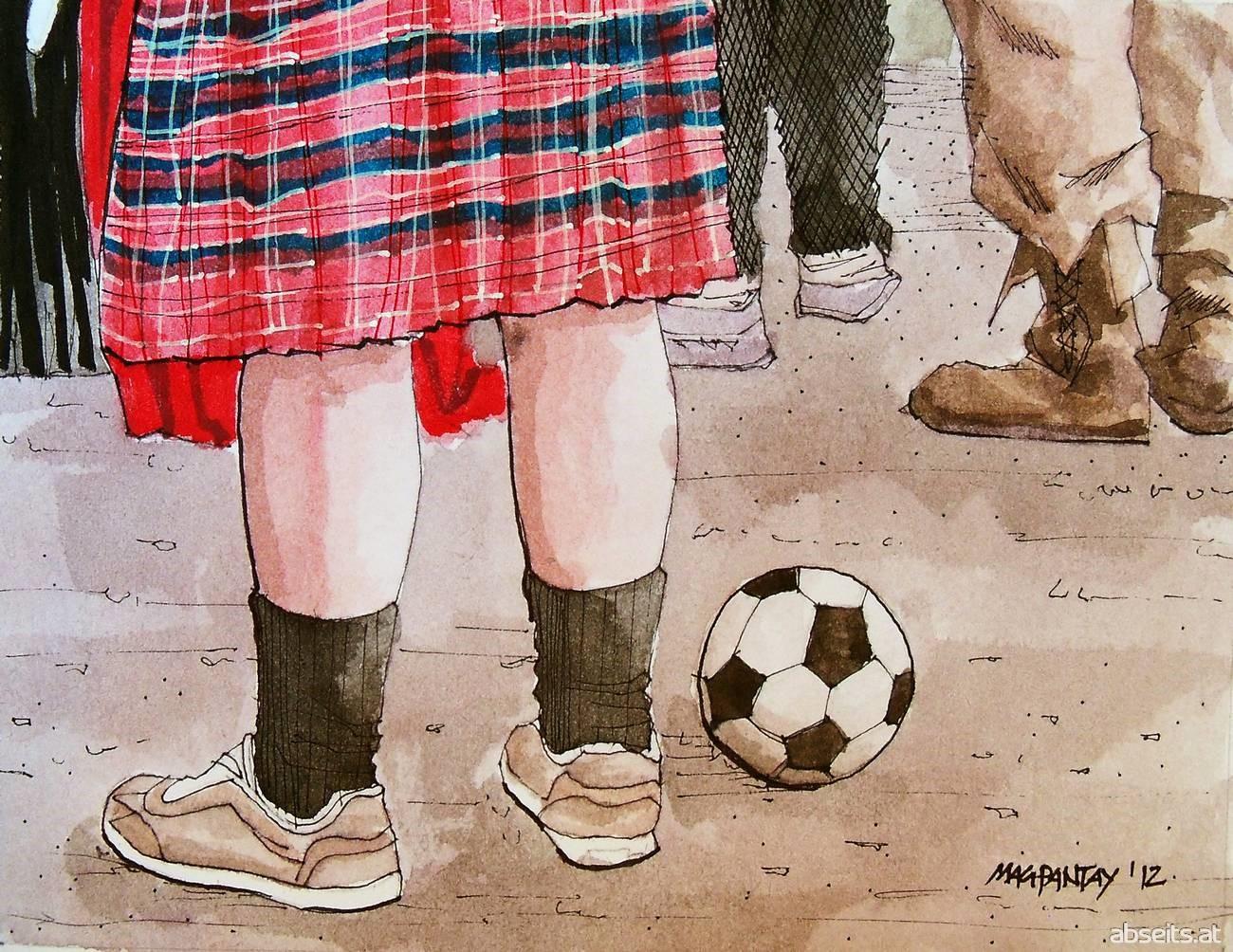 Fußball in Schottland - Schottenrock_abseits.at
