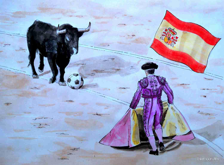 _Fußball in Spanien Torrero Stier