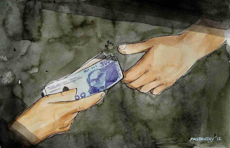 _Geldübergabe Transaktion Bestechung