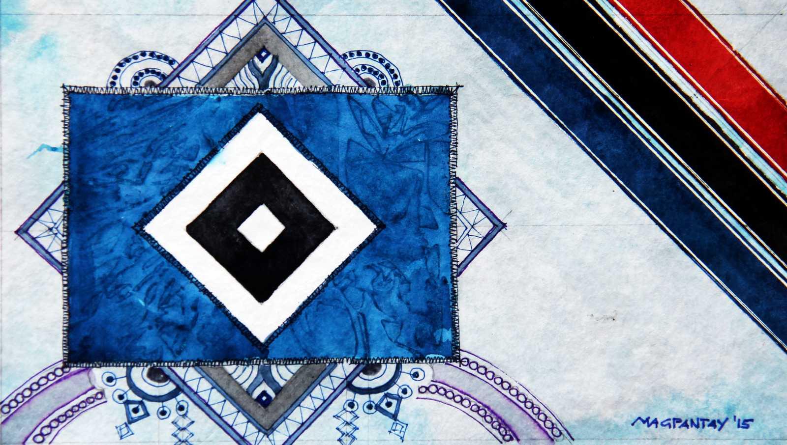 _Hamburger SV Wappen Stripes