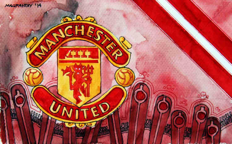 _Manchester United - Wappen mit Farben