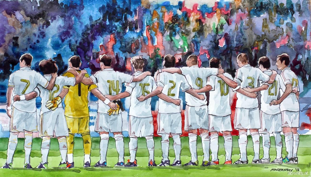 Mannschaftsgeist (Real Madrid, Auswärtstrikot)_abseits.at