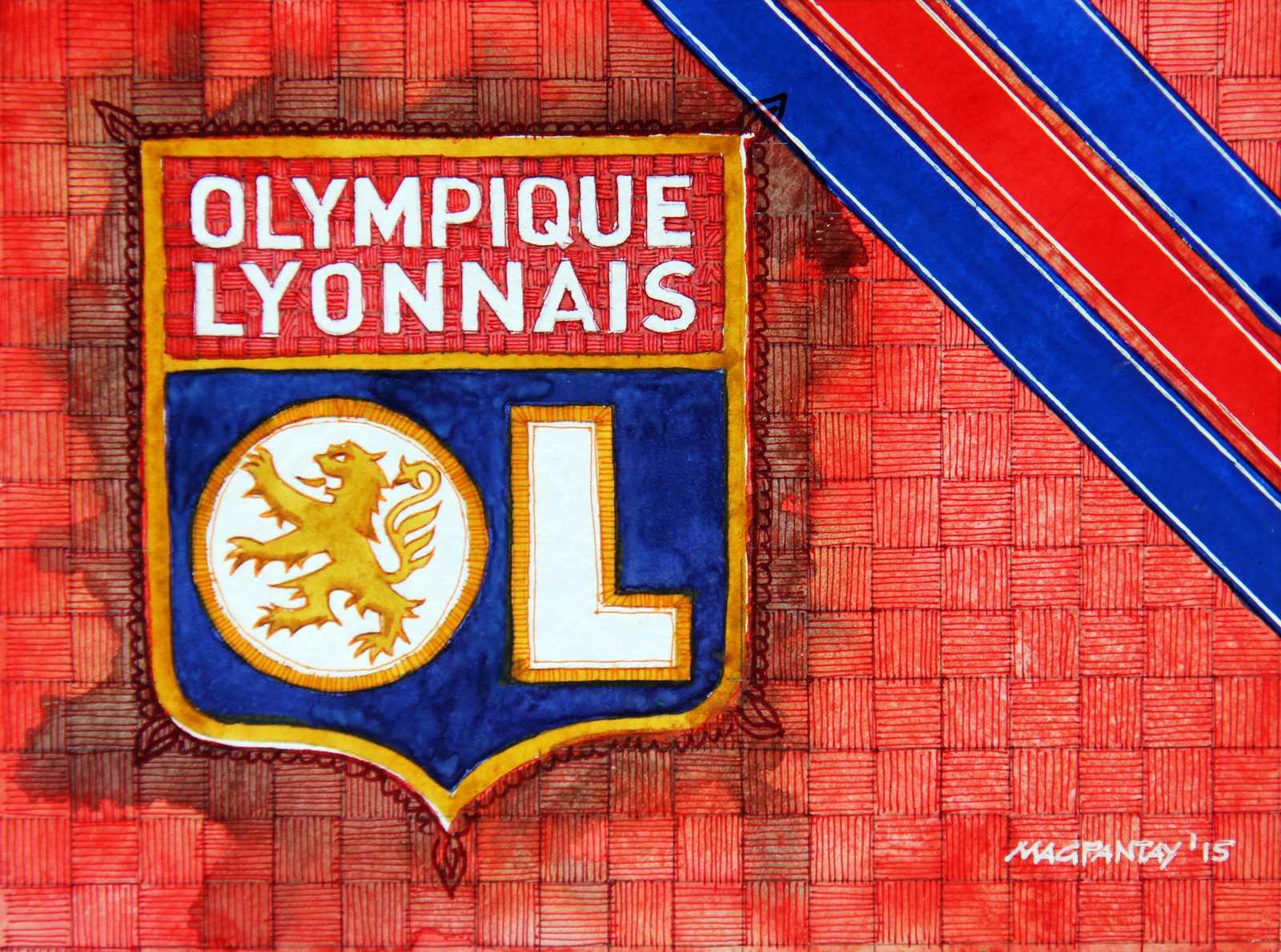 _Olympique Lyon Wappen Stripes