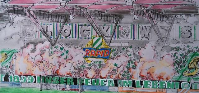 """Meinungen der Rapid-Fans vor dem 314. Derby: """"Ein Sieg wäre schon fast zu kitschig"""""""