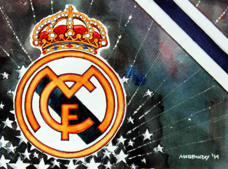 _Real Madrid - Wappen mit Farben