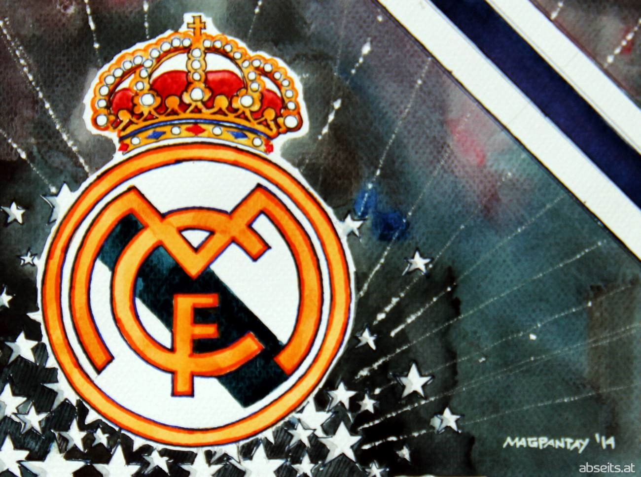Real Madrid - Wappen mit Farben_abseits.at