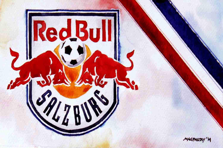 _Red Bull Salzburg - Wappen mit Farben60x40cm