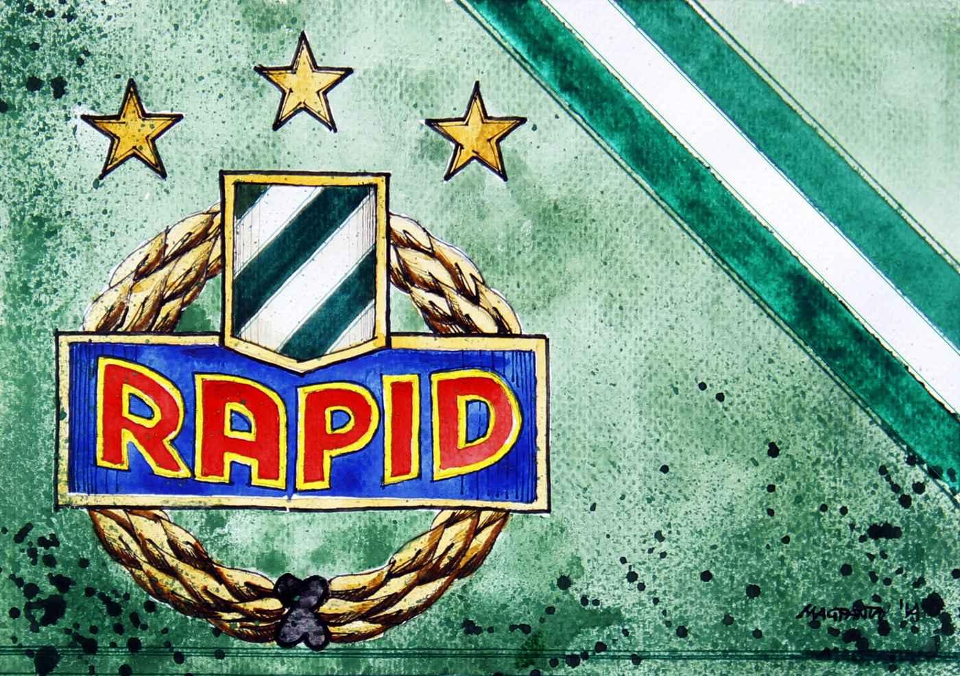 Shop_SK Rapid Wien - Wappen mit Farben