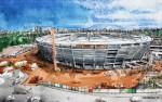 Stadion Bauphase Bau Unfertig