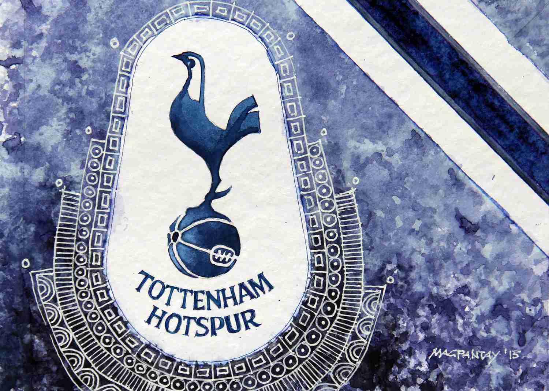_Tottenham Hotspur Wappen Stripes