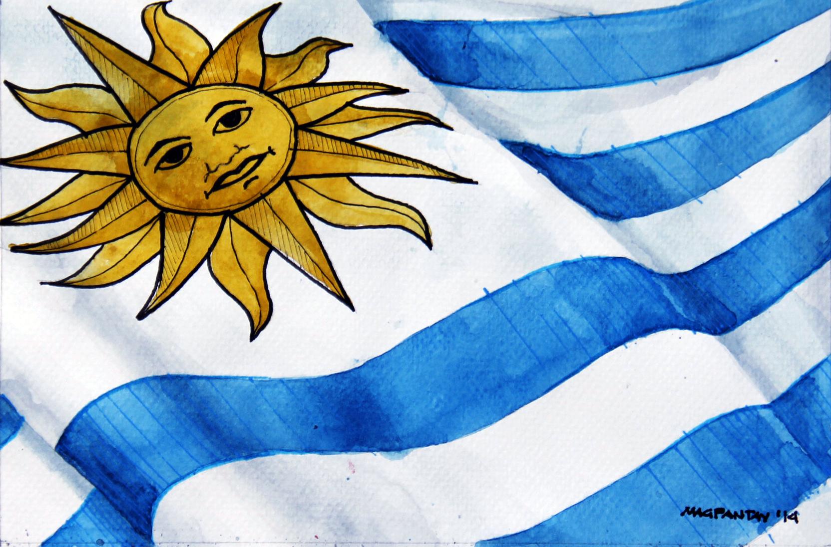 Bildergebnis für uruguay Flagge