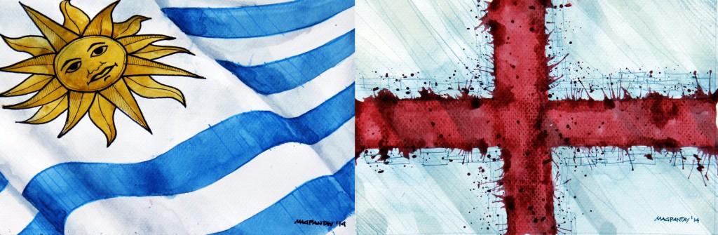 Taktikticker/Spielfilm: Uruguay – England 2:1