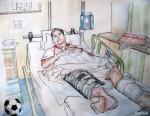 Verletzung, Krankenbett_abseits.at