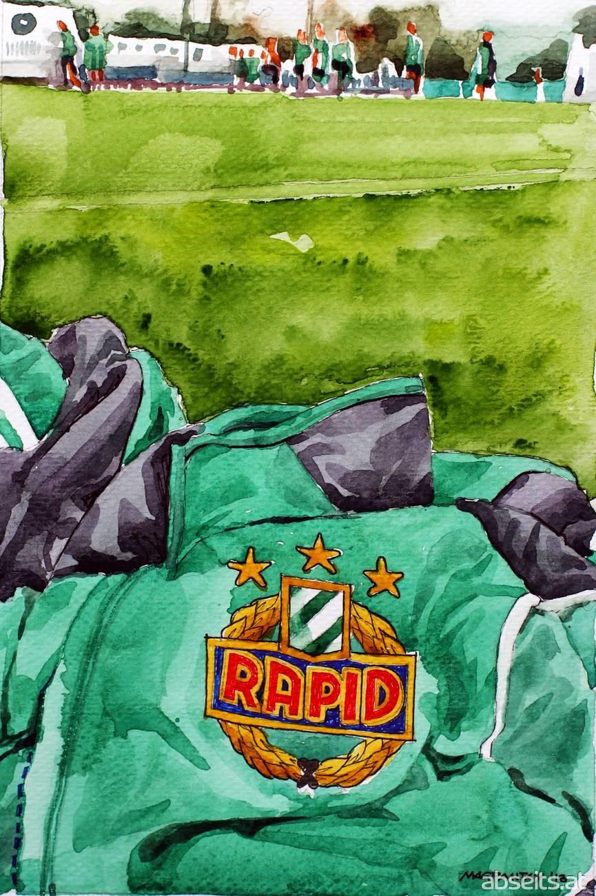 Wappen Rapid Wien am Trainingsplatz_abseits.at