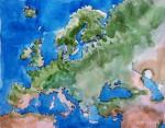 Europa Landkarte Kontinent