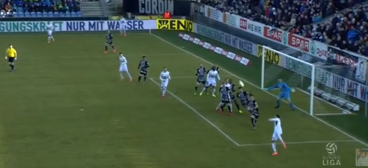 Galvaos toller Treffer für den SCR Altach gegen Sturm Graz