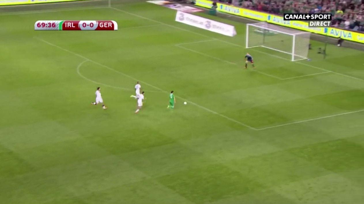 Shane Long erzielt das Goldtor für Irland gegen Deutschland