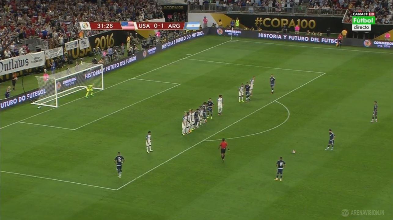 Lionel Messis geniales Freistoßtor im Copa-América-Halbfinale gegen die USA