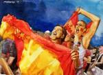 Spanische Fans, Spanien