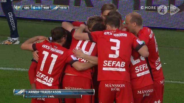Eiskalt: Rapid-Neuzugang Traustason trifft für Norrköping gegen Göteborg (1:1)
