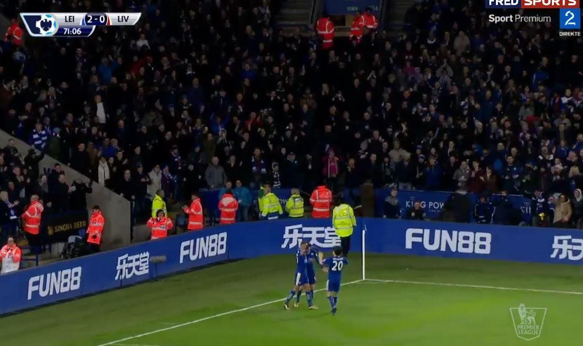 Jamie Vardys Doppelpack für Leicester City gegen den FC Liverpool